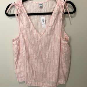 Old Navy Tops - Old Navy Pink And White Tank